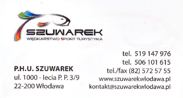 """""""SZUWAREK"""" sklep sportowo-wędkarski"""